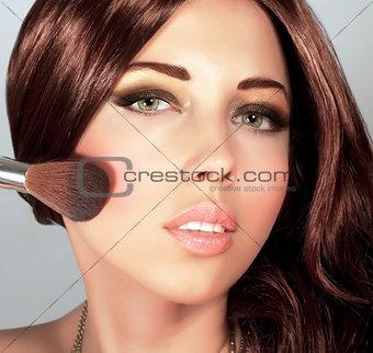 Pretty woman with stylish makeup