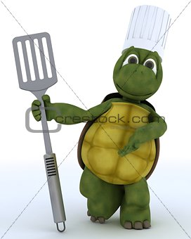 tortoise chef with fish slice