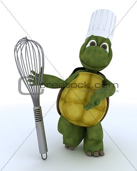 tortoise chef with balloon whisk