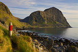Coast of Vaeroy on Lofoten