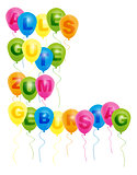 Balloons With With Happy Birthday Sign - German