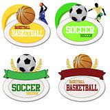 Basketball and footballs icons