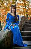 elf princess on stone staircase