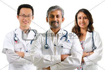 Multiracial doctors