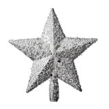 golden Christmas star decoration for hanging on tree