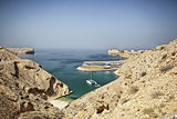Oman coast landscape