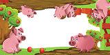Cartoon farm frame