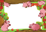 Cartoon farm frame