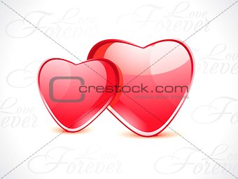 abstract glossy heart shape