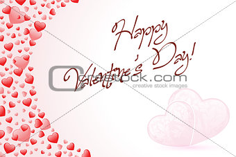 Happy Valentine's Day Card with Hearts