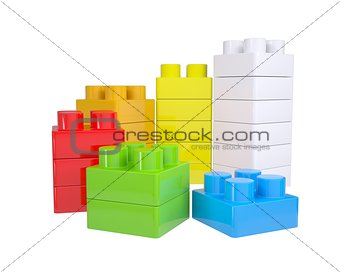 Staircase of color children's blocks