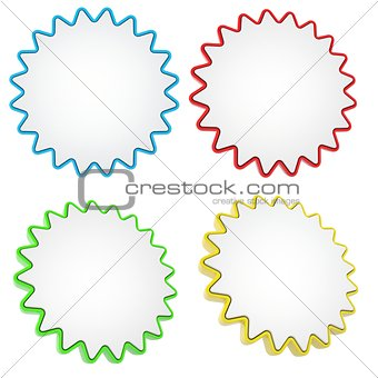 A set of colorful stars