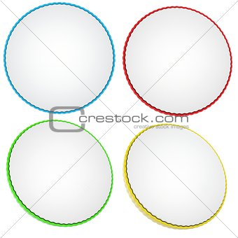 A set of colored circles