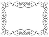 calligraphy penmanship ornamental deco frame pattern