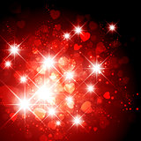 Heart and Star Holiday Background
