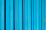 Blue corrugated iron sheet