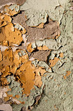Old crumbling paint wall