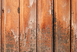 Corrugated rusty iron sheet