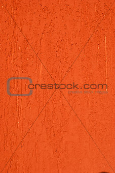 Red painted plastered wall