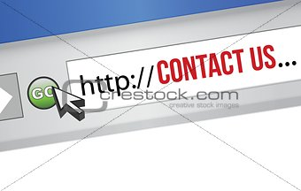 Contact Us concept for an internet