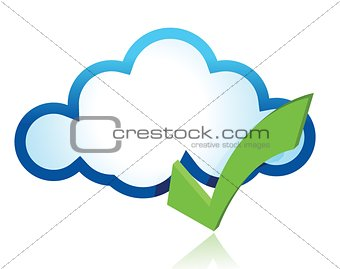 Blue cloud with green tick mark