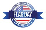 flag day. us seal and banner