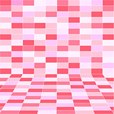 abstract pink halftone background of rectangles.