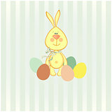 illustration of easter bunny