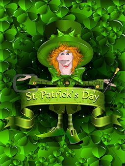 Background Santa Patrick Day