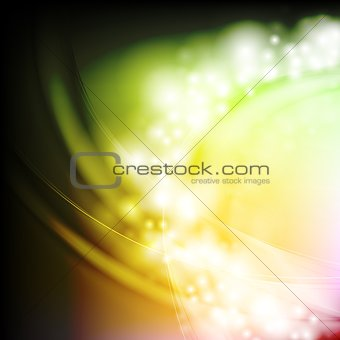 Bright waves. Vector background