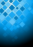 Hi-tech vector blue background