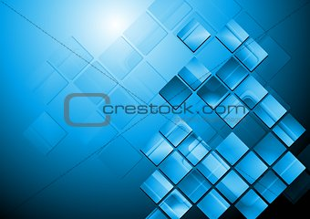 Bright blue hi-tech vector design