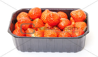 Fresh Strawberries in a Plastic Container