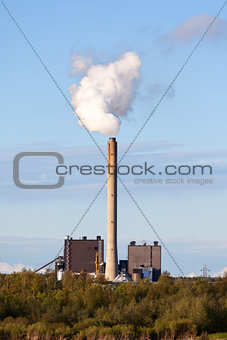 Smoking Chimney Power Plant