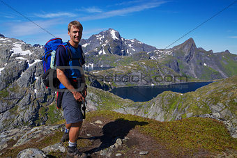 Young hiker in Norway