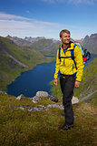 Norway with backpack