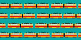 Vintage tram car pattern