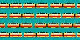 Vintage tram car pattern