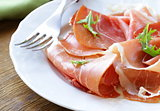 delicious sliced ham on  plate