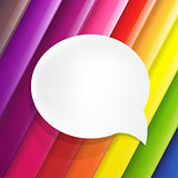 Color Background With Speech Bubble