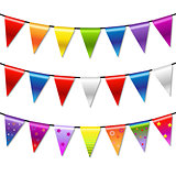 Rainbow Bunting Banner Garland