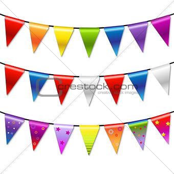 Rainbow Bunting Banner Garland
