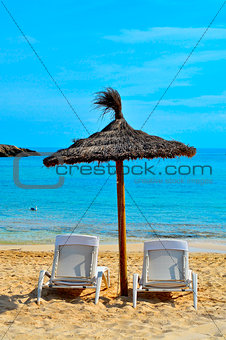 tropical beach in Formentera, Balearic Islands, Spain