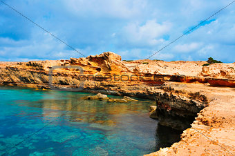 Punta de Sa Pedrera coast in Formentera, Balearic Islands, Spain