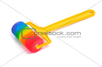 rainbow in a paint roller