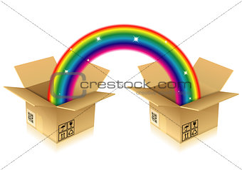 Rainbow from Box