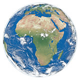 Model of Earth facing Africa