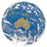 Model of Earth facing Australia