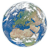 Model of Earth facing Europe