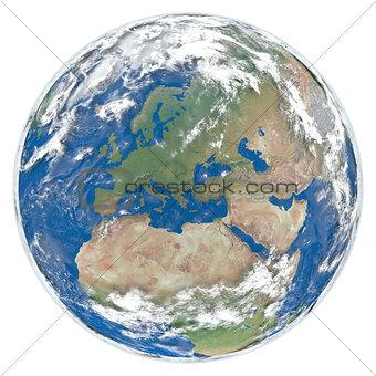 Model of Earth facing Europe